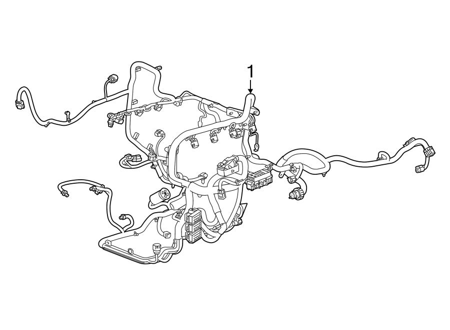 Cadillac Escalade Engine Wiring Harness. W/o adaptive