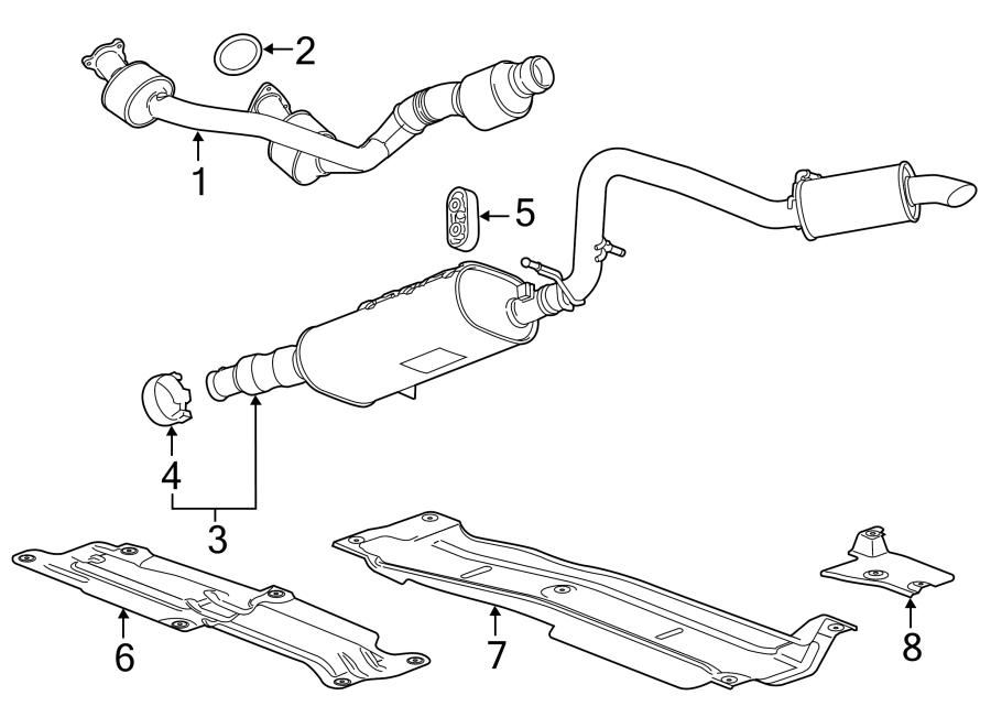 Cadillac Escalade Exhaust Muffler Clamp. Muffler AND pipe