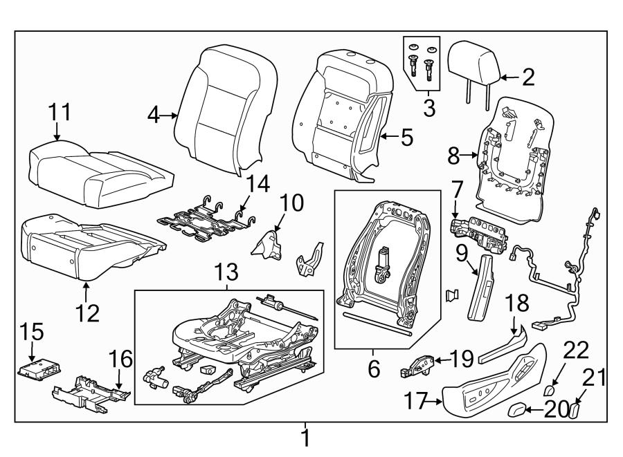Cadillac Escalade Frame. Seat. SPLIT BENCH SEAT, w/o power
