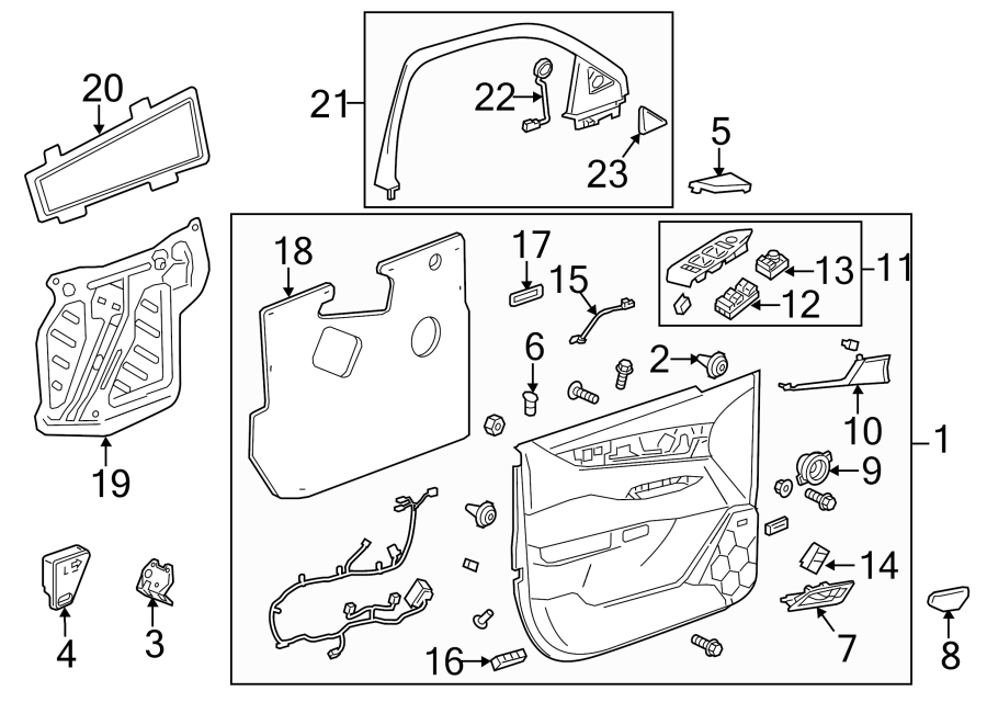 Cadillac Escalade Door Interior Trim Panel Retainer (Upper