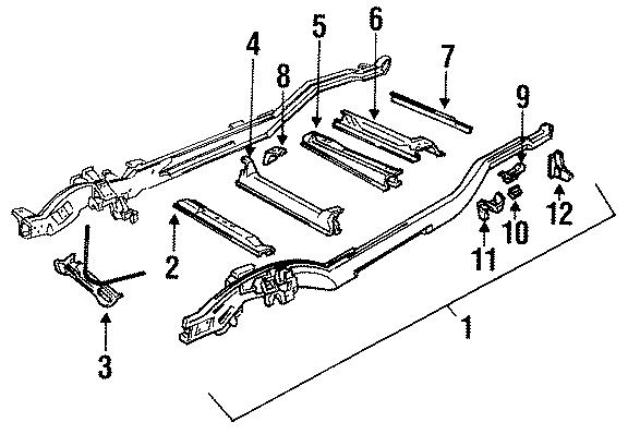 GMC Yukon Hanger, rear (rr). Front. Rear spring, front, 4