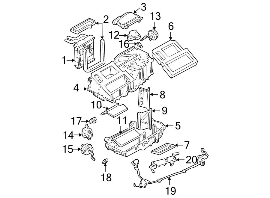 GMC Sonoma Hvac vacuum harness. 1998-2004, 2nd design, w