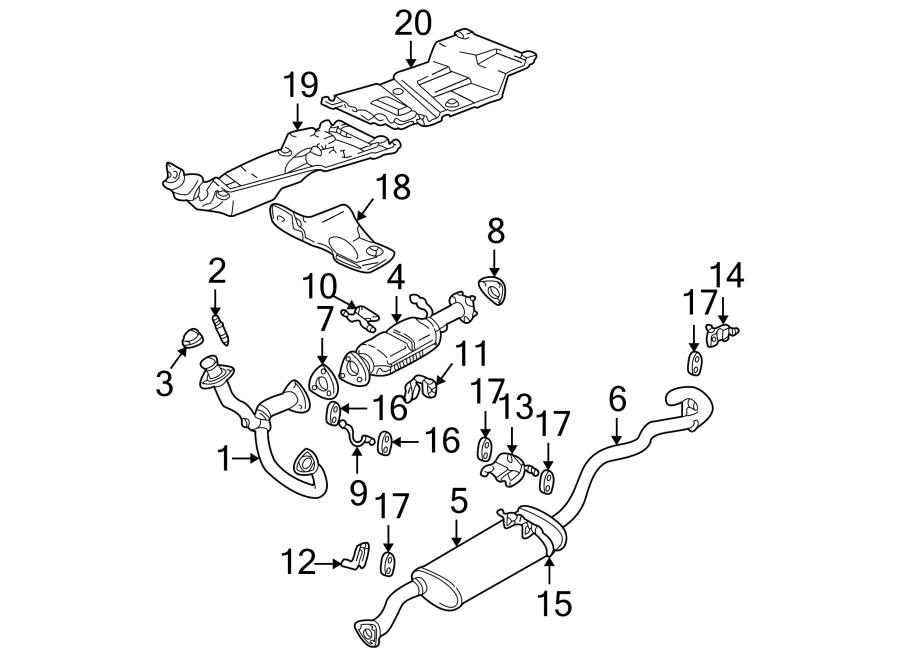 Chevrolet Blazer Catalytic Converter Gasket (Front, Upper