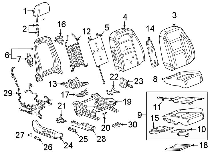 Chevrolet Blazer Power Seat Wiring Harness. W/POWER, w/o