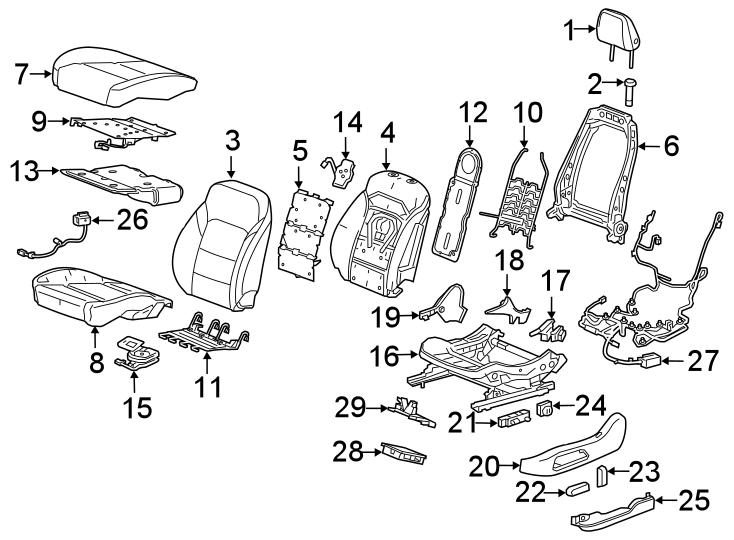 Chevrolet Blazer Power Seat Wiring Harness (Front). W