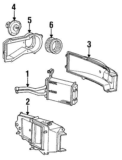 Chevrolet S10 Blazer Hvac blower motor. Air, heater