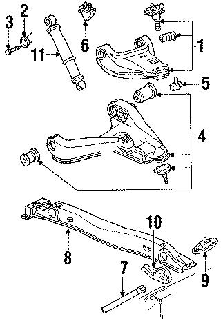 GMC Typhoon Torsion Bar Adjusting Arm (Lower). 4WD. 4WD