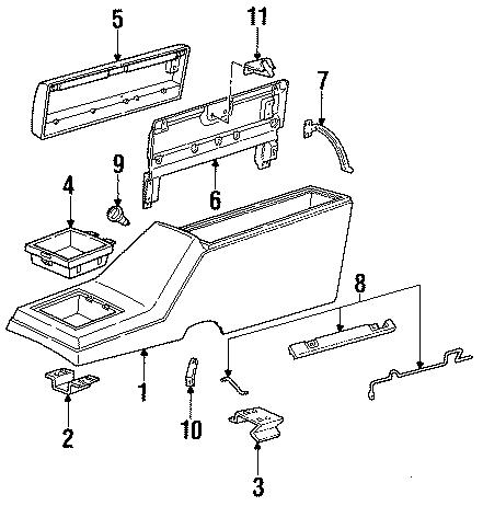 GMC S15 Jimmy Bolt/screw. Console bracket. Chevrolet & gmc