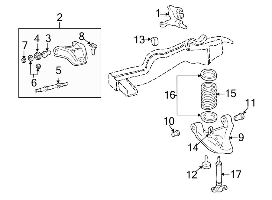 GMC Typhoon Suspension Control Arm Bushing (Front, Rear