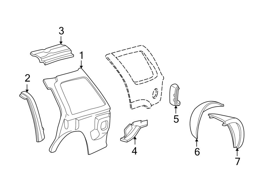 GMC Jimmy Quarter Panel Filler Panel (Rear, Lower). 2 DOOR