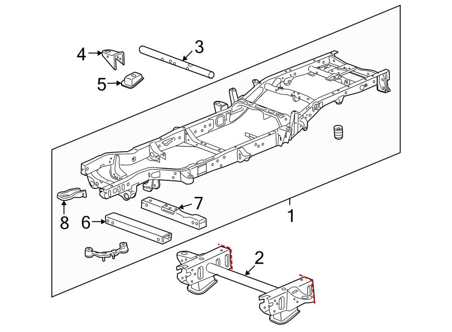 GMC Sierra 1500 Transmission Crossmember. 2WD, 1/2 TON