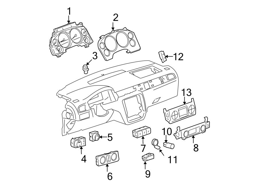 GMC Sierra 2500 HD Headlight Switch. Pwr, Pedals, Adj