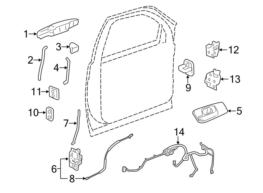 Chevrolet Silverado 1500 Door Wiring Harness. W/o power