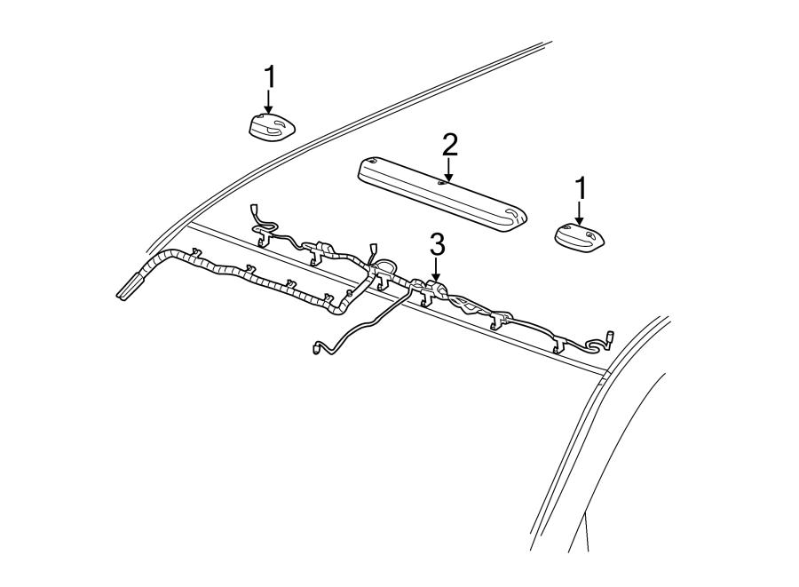 GMC Sierra 3500 HD Headliner Wiring Harness. CREW CAB, w
