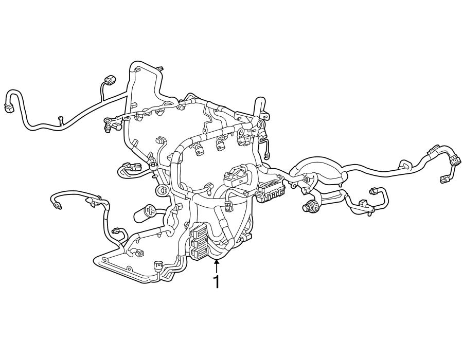 GMC Sierra 1500 Engine Wiring Harness. 6.2 liter. MOTORS
