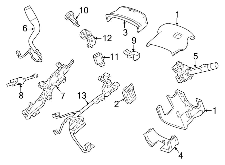 Chevrolet Silverado 2500 HD Steering Column Wiring Harness