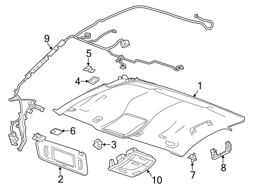 GMC Sierra 2500 HD Headliner Wiring Harness. COMPONENTS