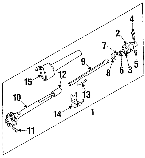 GMC K1500 Spring. Part of Intermed shaft assembly