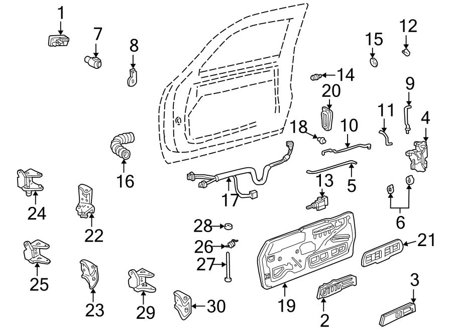 GMC C1500 Door Hinge Pin. C/K Pickup,. PICKUP,. FRONT