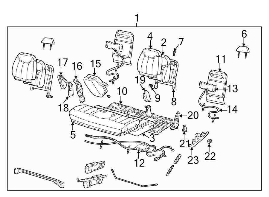 Chevrolet K2500 Seat Back Recliner. SPLIT BENCH SEAT 60/40