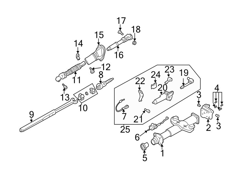 GMC Sierra 2500 HD Steering Shaft (Upper, Lower). All