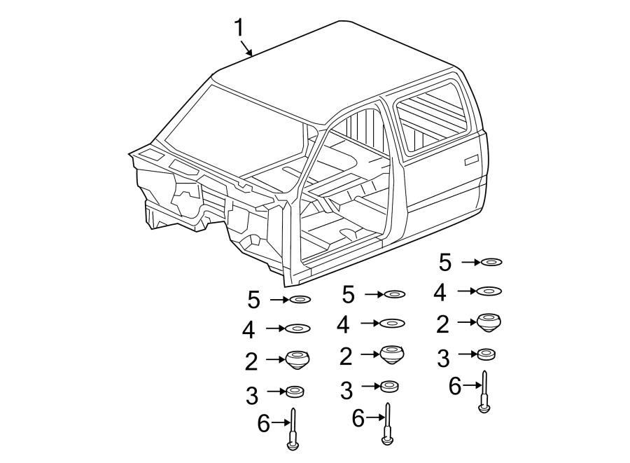 Chevrolet Silverado 3500 Classic Body Mount Cushion Washer