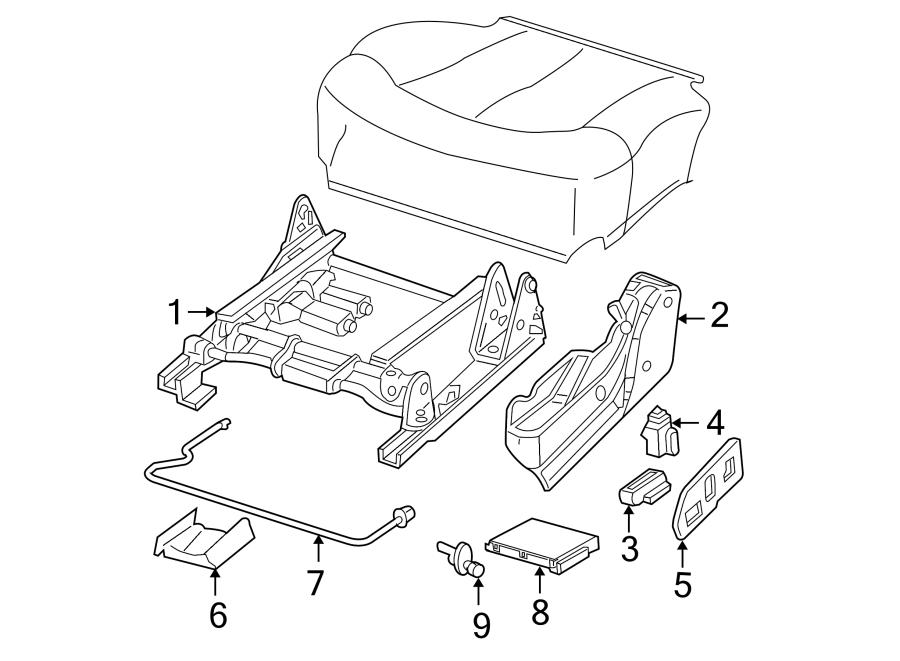 GMC Sierra 3500 Power Seat Control Module. May, Recliner