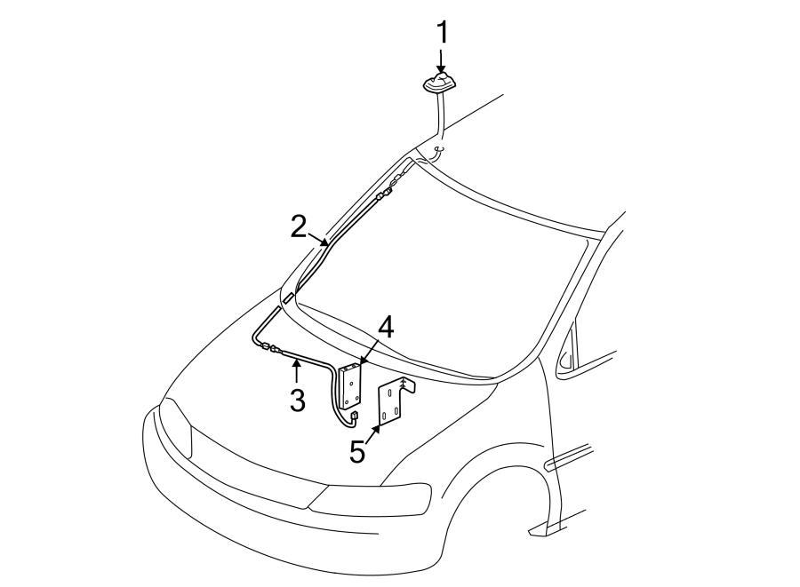 Chevrolet Uplander Antenna Cable. W/DIGITAL AUDIO, lower