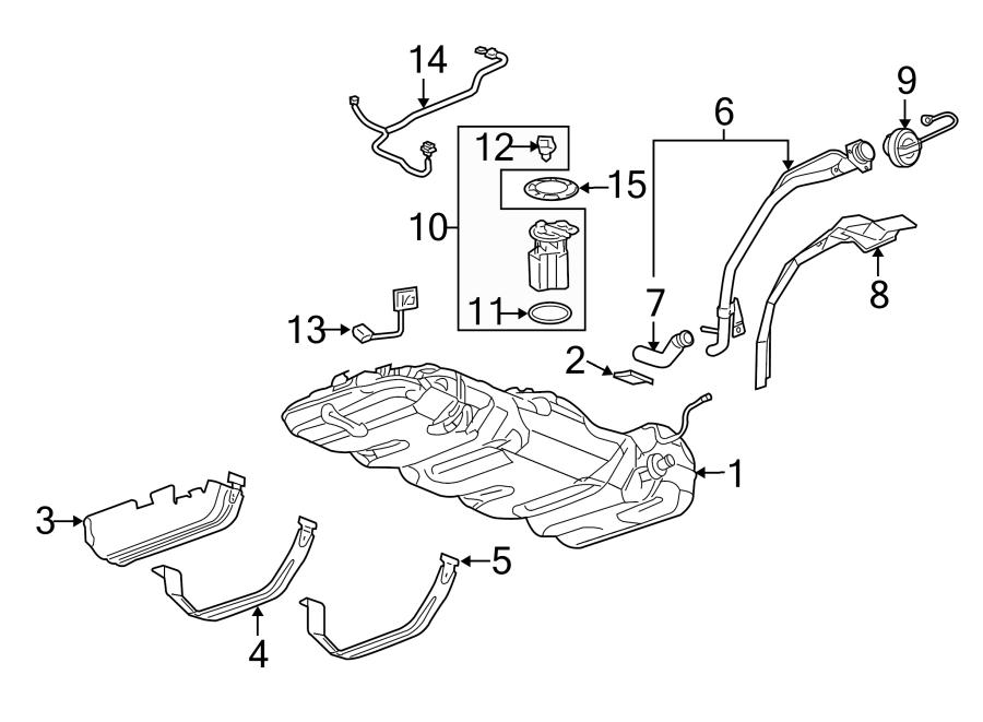 Chevrolet Uplander Fuel Pump Wiring Harness. SHORT