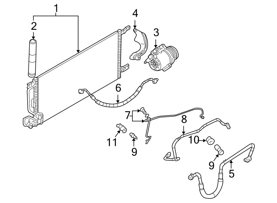 Chevrolet Venture A/c refrigerant discharge hose