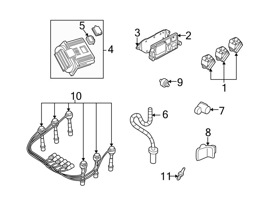 Chevrolet Venture Spark Plug Wire Set. Set. Wire. Plug