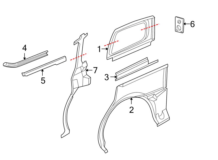 Chevrolet Venture Sliding Door Track (Rear). LONG