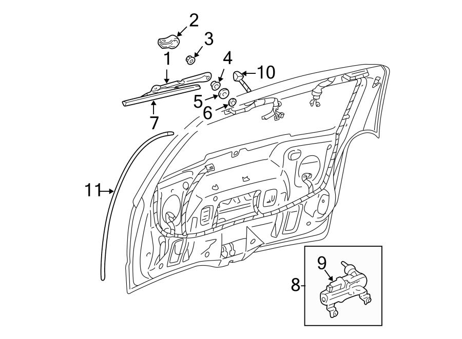 Chevrolet Venture Back Glass Washer Nozzle (Rear