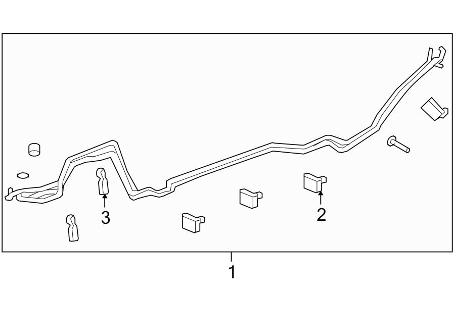 Chevrolet Traverse A/c refrigerant line clip (rear
