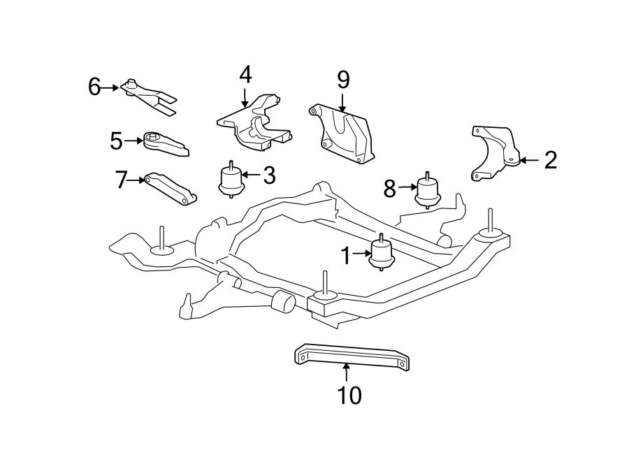 Chevrolet Traverse Automatic Transmission Mount Bracket