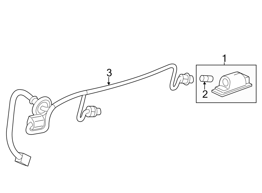 Chevrolet Traverse Wiring Harness Connector (Rear). 2013