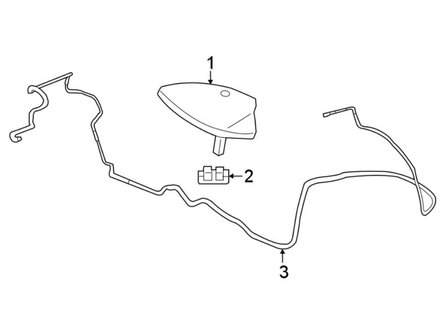 Chevrolet Traverse Antenna Cable. Traverse; w/o Digital