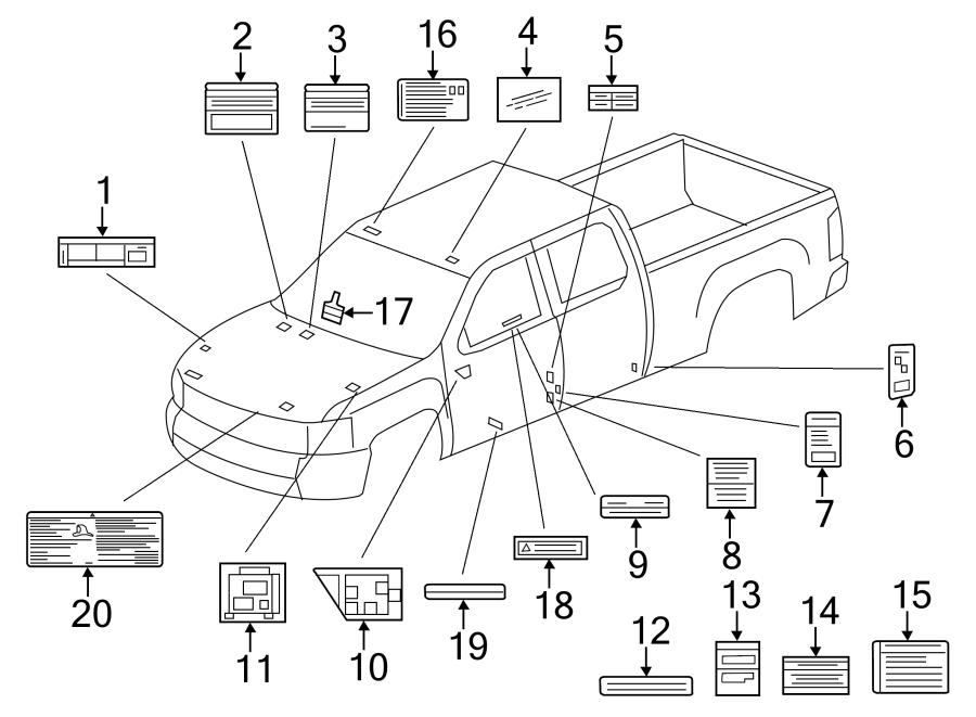 Chevrolet Silverado 1500 Engine Decal. Engine harness