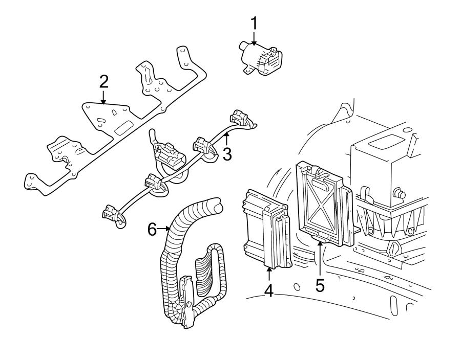 GMC Envoy XL Engine Control Module. 2003-07. 5.3 LITER