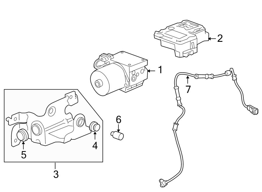 Chevrolet Trailblazer Valve. Modulator. Abs. Hydraulic