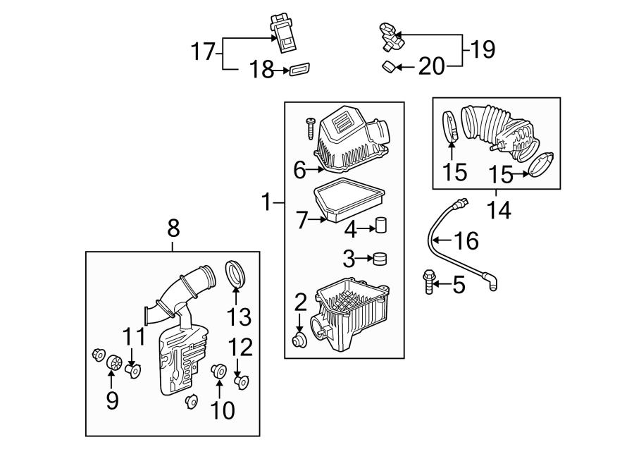 Chevrolet Equinox Air Filter. 2.4 LITER. 3.0 LITER. 3.6