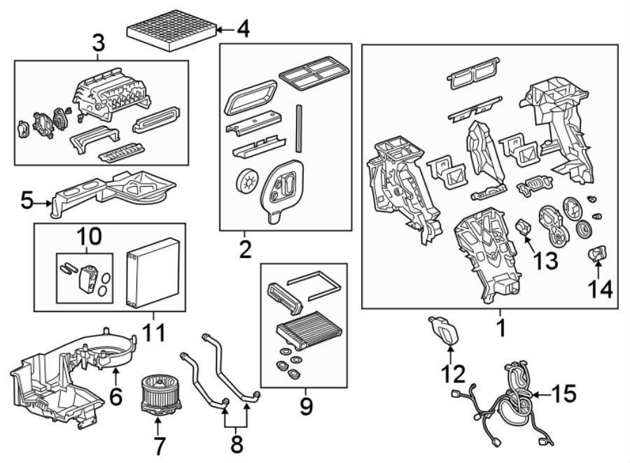 Chevrolet Equinox Hvac system wiring harness. Hvac system
