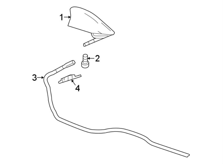 Chevrolet Equinox Radio Antenna Mast. W/o navigation