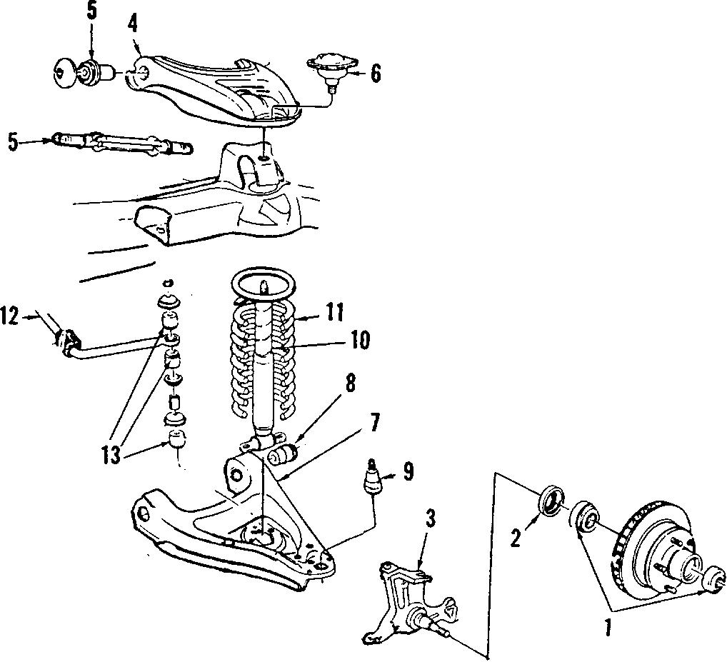 Pontiac Grand Prix Suspension Control Arm Bushing. LOWER