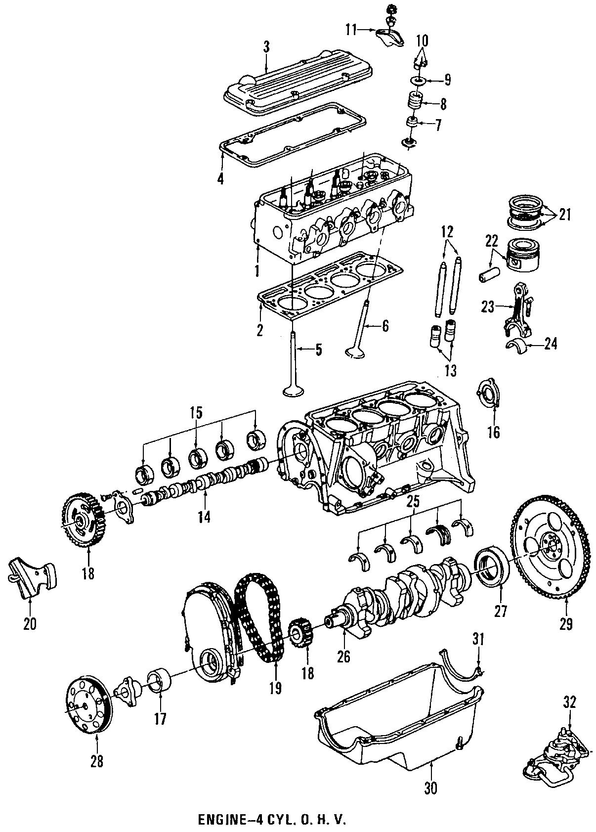 Chevrolet Cavalier Engine Timing Camshaft Sprocket Timing