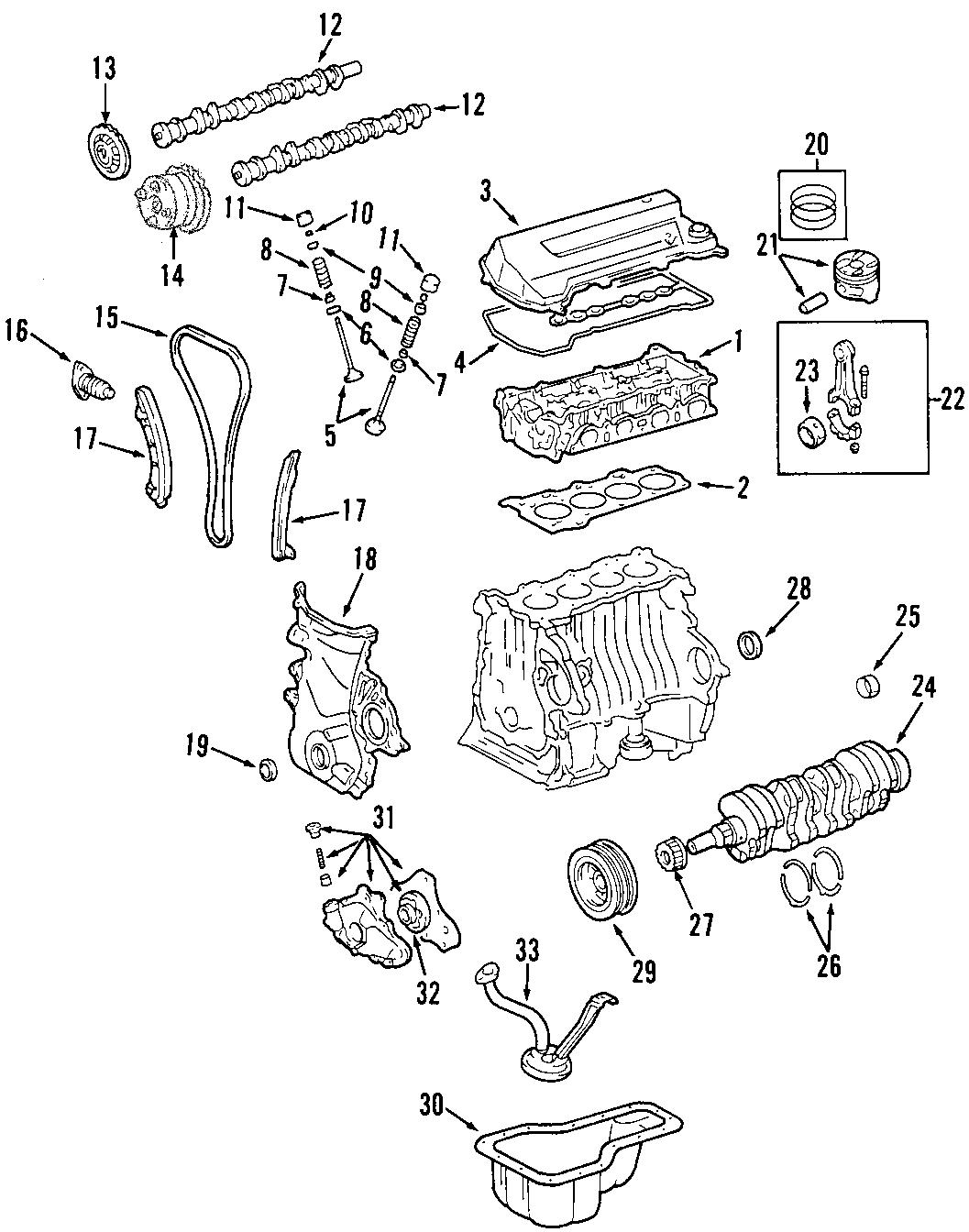Pontiac Vibe Engine Intake Valve. Engine Intake Valve