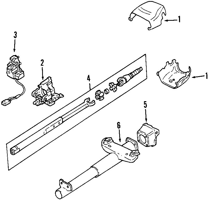 Chevrolet Corvette Steering Column Cover (Lower). Corvette