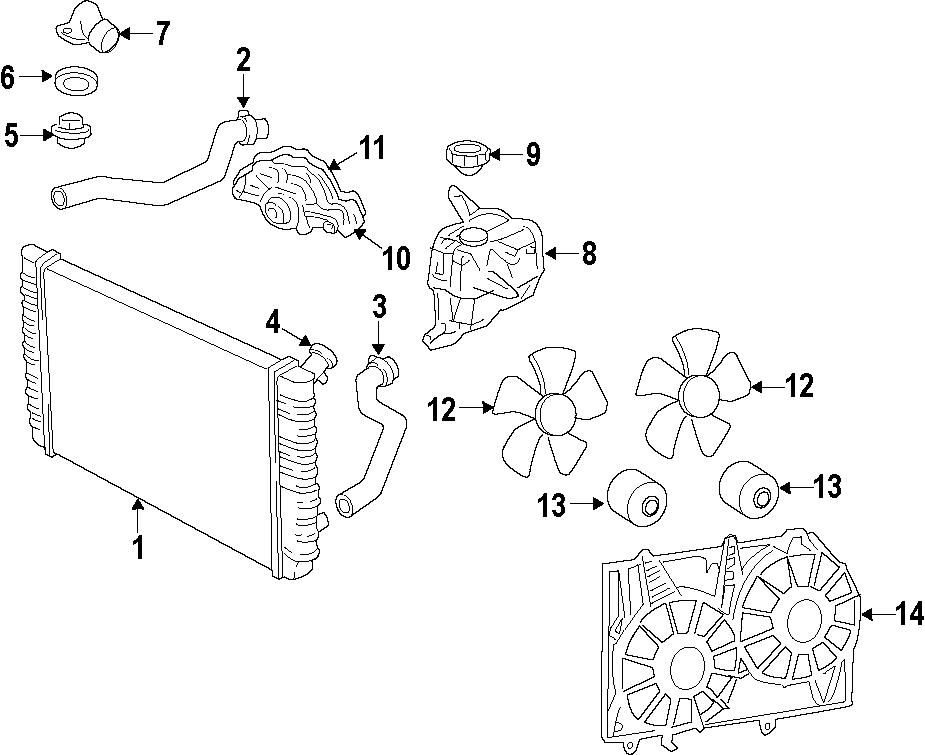 Buick Lucerne Radiator Coolant Hose (Upper). 3.8, 3.9