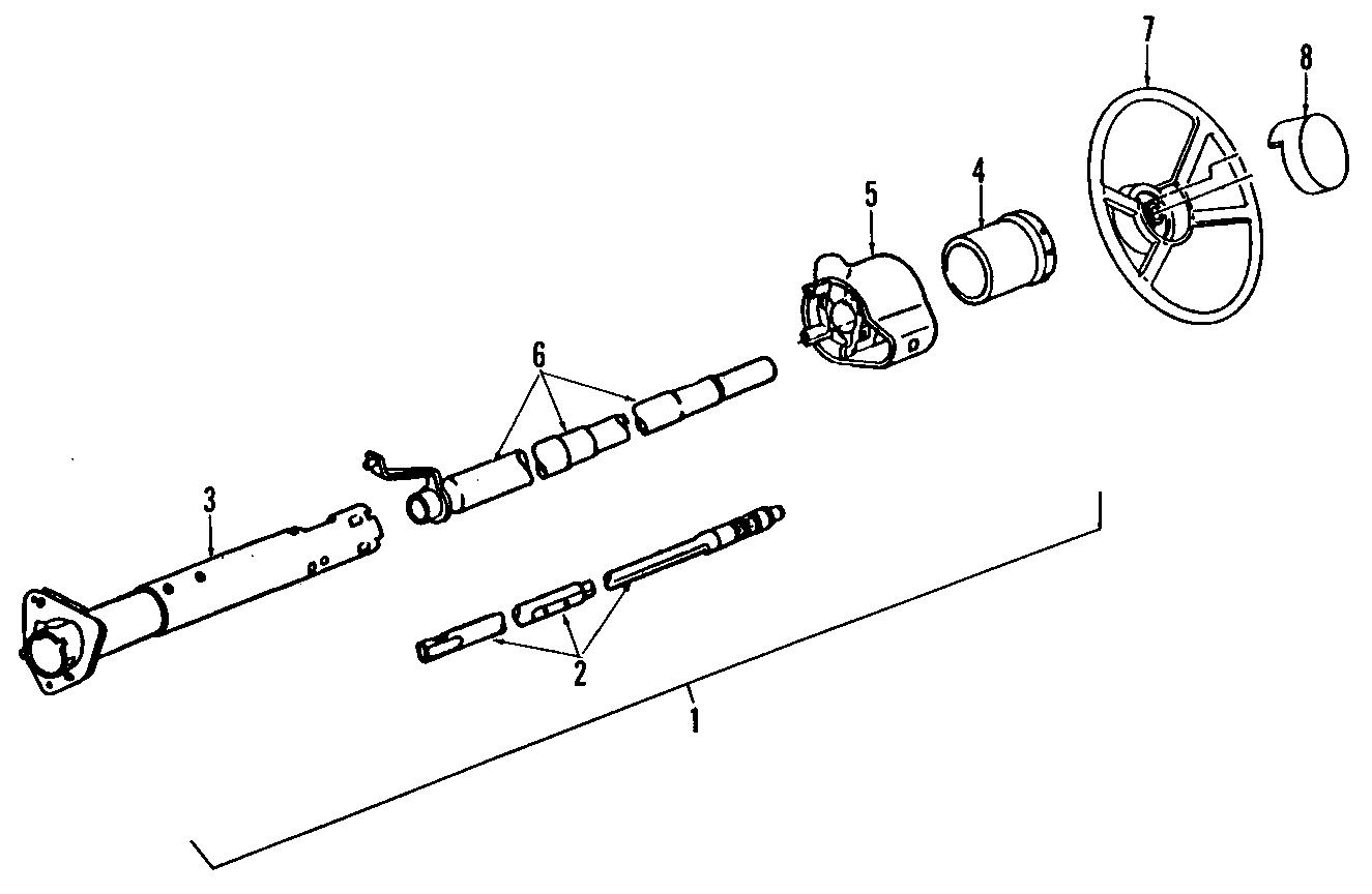 Chevrolet Astro Steering Shaft (Lower). 1985-95 W/TILT