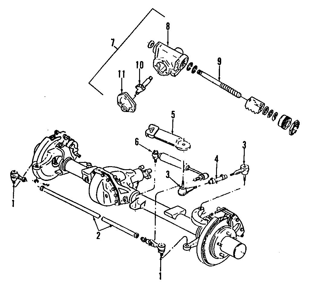 Chevrolet K2500 Steering Drag Link. 4WD. 4WD, rear. 4WD